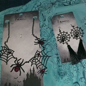 Halloween set of necklace and earrings
